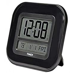 Chaney Instruments 75322T Acu Timex 9 Atomic Digital Wall Clock features a self-setting atomic clock, calendar, and precise, reliable temperature readings