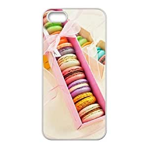 Personalized Cover Case with Hard Shell Protection for Iphone 5,5S case with Macarons Tea Time lxa#437803 hjbrhga1544