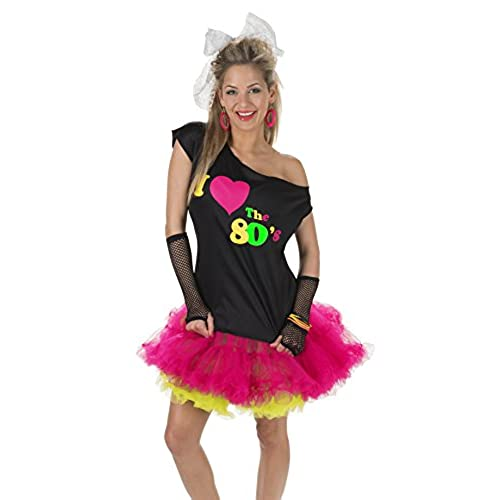 I Love the 80u0027s Disco T-Shirt Black/Multi S/M  sc 1 st  Amazon.com & 80u0027s Costumes: Amazon.com