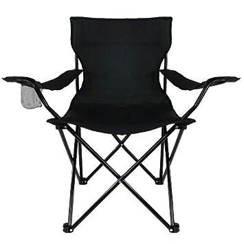 Bresetech - Silla plegable (hasta 150 kg), color negro ...