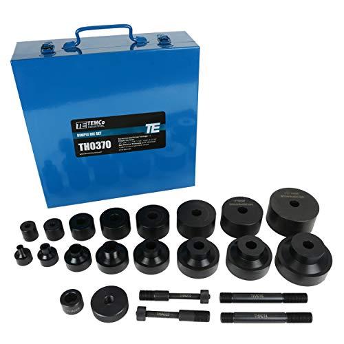 TEMCo TH0370 Dimple Die Set Tool Kit 8pcs: 1/2 3/4 1 1-1/4 1-1/2 1-3/4 2 2-1/2