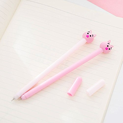 GOOTRADES 8 Pack Cute Pig Writing Gel Ink Pen for Office School Student ,0.38 mm Tip Photo #4