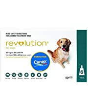 Revolution for Dogs 20-40kg - Green 6 Pack + Canex Intestinal Wormer
