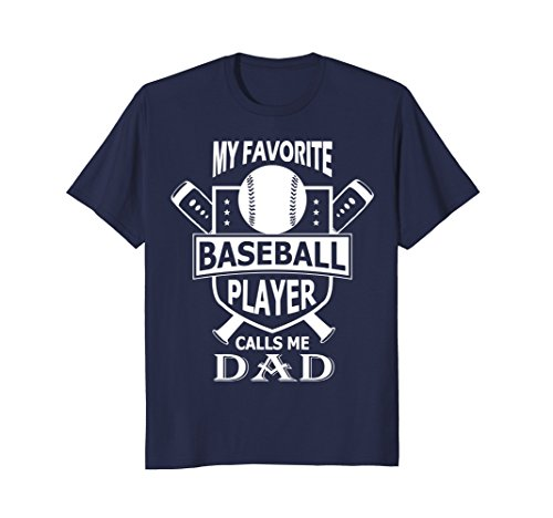 Male Baseball Player (Mens My Favorite Baseball Player Calls Me DAD Shirt XL Navy)