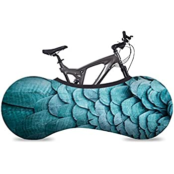 VELOSOCK Bicycle Bike Cover Feathers for Indoor Storage - Keeps Floors and Walls Dirt-Free - Fits 99% of All Adult Bicycles