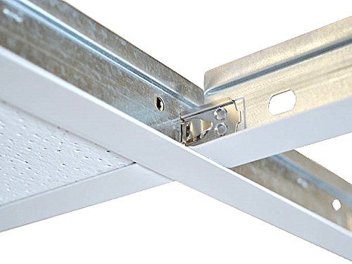 Suspended Ceiling Grid Component, White Cross Tee Section 600mm x 24mm Ceiling Expert
