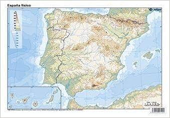 Mapa De España Fisico Mudo.Espana Fisico Mapa Mudo De Ejercicios Amazon Co Uk Aa Vv