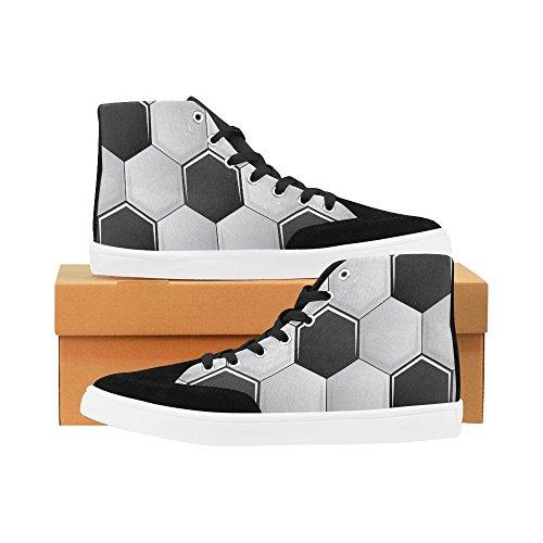 D-histoire Personnalisé Football Haut Haut Chaussures Pour Hommes Toile Chaussures Mode Sneaker