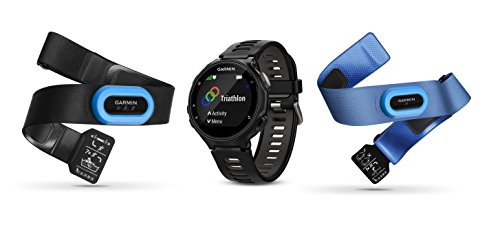 Garmin Forerunner 735XT (Black, Tri-Bundle) Power Bundle | Includes HRM Tri & HRM Swim Chest Straps, HD Glass Screen Protectors (x2) & PlayBetter Portable Charger | Multisport GPS Running Watch by PlayBetter (Image #1)