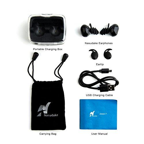 bluetooth in ear headphones nasudake true wireless earbuds for running sports noise canceling. Black Bedroom Furniture Sets. Home Design Ideas