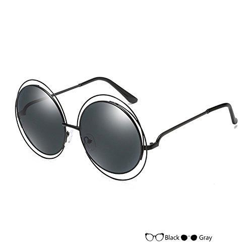 Gafas Lujo Mujer De De TIANLIANG04 A Sol Vintage Oval Negro Del Señor L Gafas Sol De Gafas Redondas t8t17
