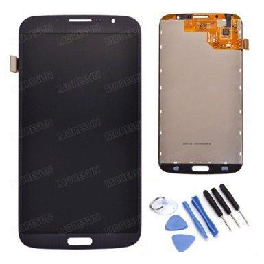 High Quality LCD Display Glass Touch Screen Digitizer Assembly +Free Tools for Samsung Galaxy Mega 6.3 I9200 I9205 I527 L600 (blue)