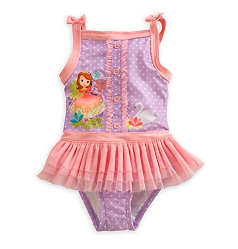 Disney Sofia the First Deluxe Swimsuit for Girls - First Swimsuit The