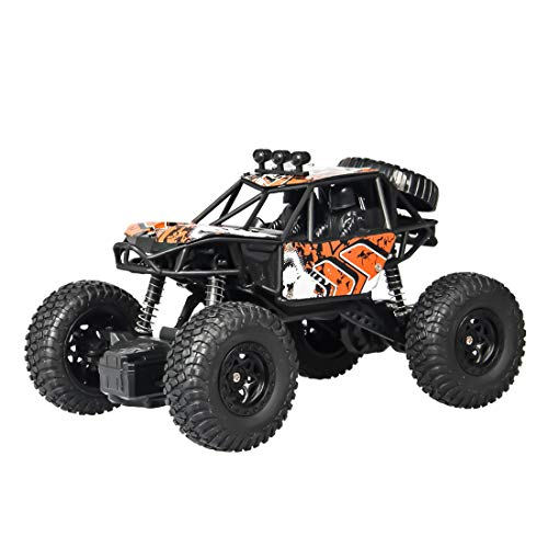 (WOLFBUSH Romote Control Cars 1:20 Scale Four-Wheeled Steering Driving Off-Road Vehicle Rock Crawler 2.4Ghz RC Car for Children (Yellow))