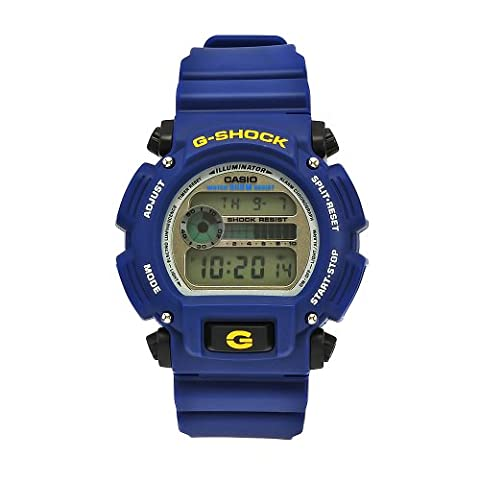 Casio Men's DW9052-2 G-Shock Blue Rubber Digital Dial Watch (Blue G Shock Men)