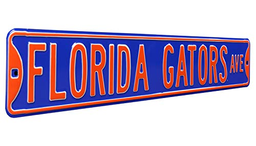 Authentic Street Signs 70064 Florida Gators Ave, Heavy Duty, Steel Street Sign, Blue, 36