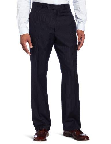Tommy Hilfiger Men's Tyler Navy Stripe Flat Front Pant