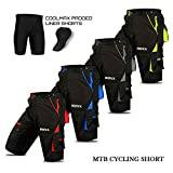 Cycling MTB Shorts, Cool-max Padded, detachable Inner Lining, off Road Quality Cycling Shorts (X-Large, Grey)