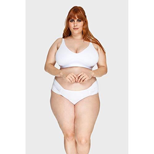 Calcinha Drapeada Plus Size Branco-54
