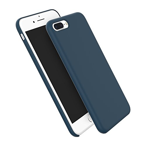 iPhone 8 Plus Case,iPhone 7 Plus Silicone Case, HiOrange Liquid Silicone Gel Rubber Shockproof and Scratch-proof Cover with Soft Microfiber Cloth for Apple iPhone 7 Plus 5.5 Inch-Deep Blue