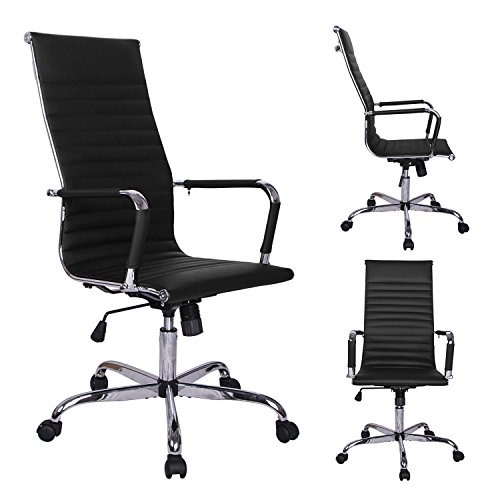 ainfox-360-swivel-height-adjust-ergonomic-ribbed-high-back-executive-office-pu-leather-computer-desk