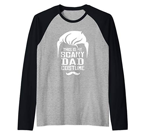 Easy Guy Halloween Costumes College (Scary Dad Costume - Easy Halloween Costume Raglan Baseball)