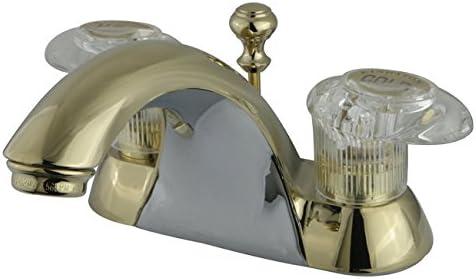 Kingston Brass KB2152 Naples 4-Inch Centerset Lavatory Faucet, Polished Brass