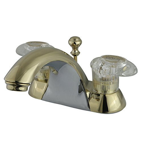 Naples 4 Centerset - Kingston Brass KB2152 Naples 4-Inch Centerset Lavatory Faucet, Polished Brass