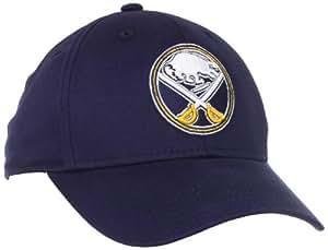 Reebok Buffalo Sabres Navy Blue Basic Logo Flex Fit Hat (One Size)
