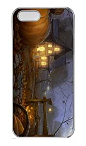 free cover Halloween Painting PC Transparent Case for iphone 5/5S