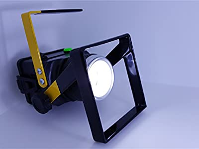 ShenLang 10w Cordless LED Work Light, Handheld, Zoomable & USB Rechargeable- Great Outdoor Camping Light, Super Bright Waterproof IP65 Worklight