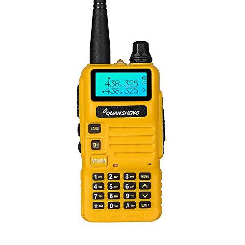 Quansheng ham radios (UV-R50) Dual Band Two Way radios Long Range walkie talkies (Yellow)