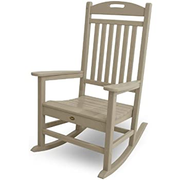 amazon com trex outdoor furniture yacht club rocker chair sand