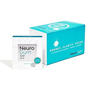 Neuro Gum Nootropic Energy Gum, Enlighten Mint Flavor, 9 Pieces Per Pack, 12 ea