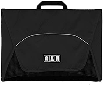 Black BAGSMART 17 Packing Folder Anti-wrinkle Travel Garment Bag and Luggage Accessory