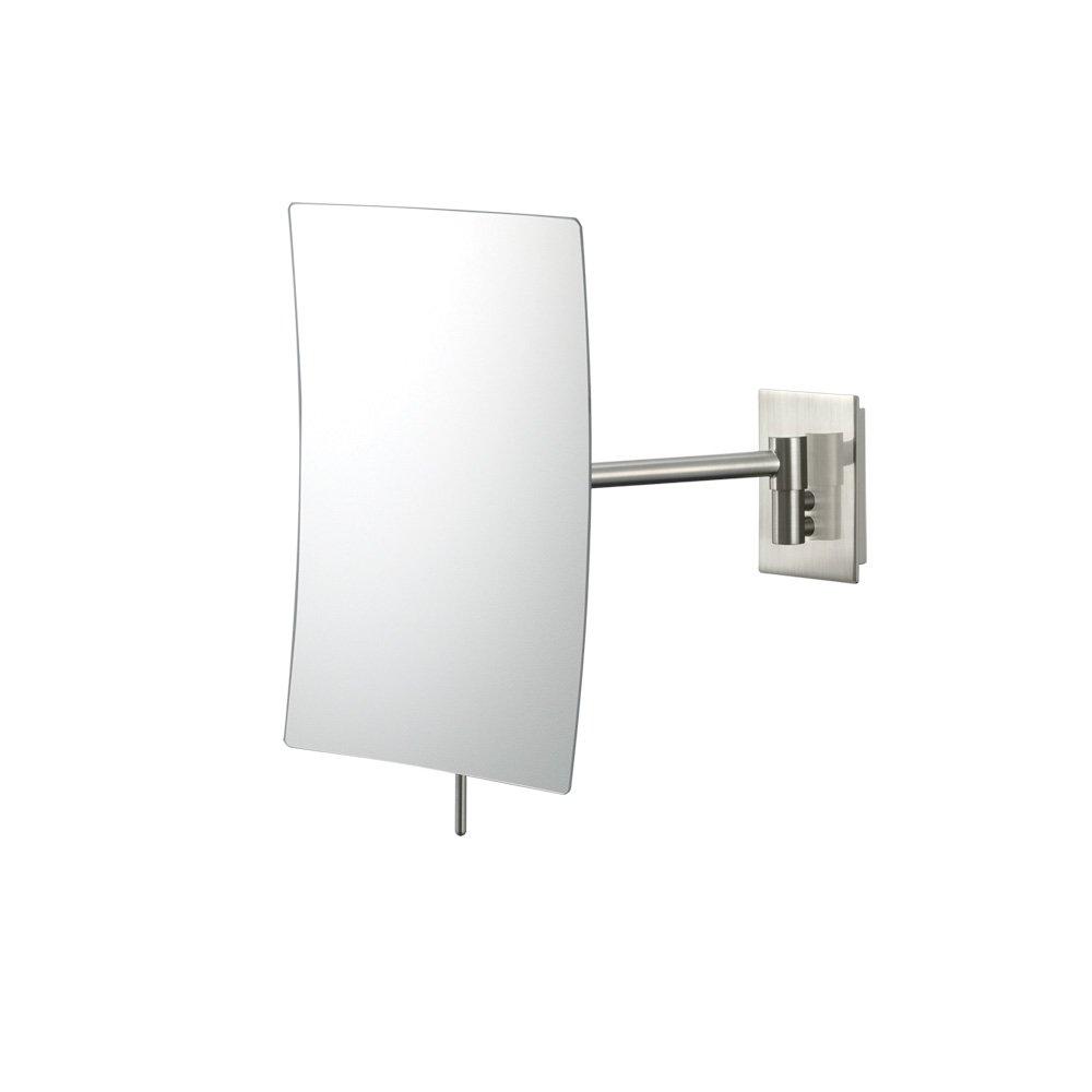 Amazon mirror image 21843 minimalist rectangular wall mirror amazon mirror image 21843 minimalist rectangular wall mirror 3x magnification chrome home kitchen amipublicfo Gallery