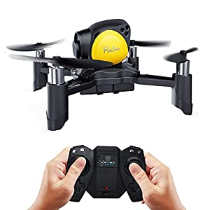Maxxrace Rc toys DIY Mini Racing Drone Headless Mode 2.4Ghz Nano LED RC Quadcopter Altitude Hold Good for beginners- Black by maxxrace
