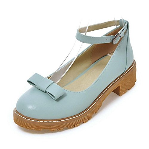 Pumps KemeKiss Girl All Fashion Ankle Strap Blue School Shoes Women Match wHZp6P