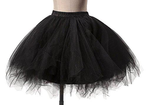 taglia con unica donna da Petticoat Albrose nera fiocco xz1w4Rxq