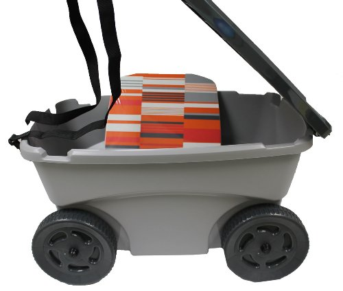 suncast portable rolling garden tool scooter w seat cup