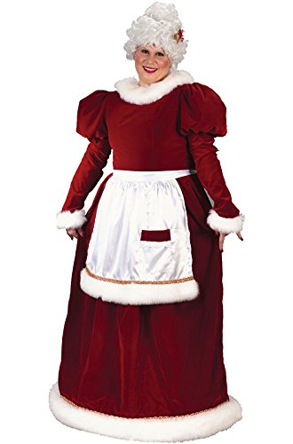 Fun World Costumes Women's Plus-Size Plus Size Adult Velvet Mrs. Santa Suit, Red/White, X-Large by Fun World