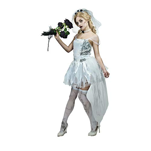 Scary Bride Costumes - flatwhite Women's Halloween Zombie Scary Bride