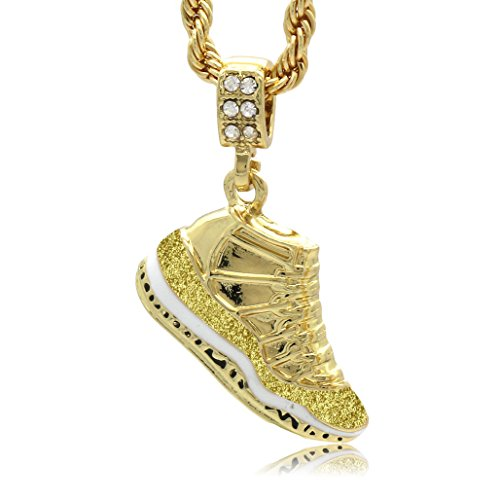 L & L Nation Mens Gold Plated Hip Hop Retro 11