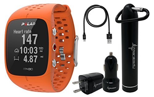 Polar M430 Advanced Running GPS Watch with Wrist-based Heart Rate Monitor and Wearable4U Ultimate Power Pack Bundle (Orange) Review