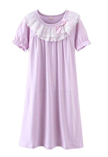 Price comparison product image LLP Cute Little Girls Princess Nightgown Cotton Lace Bowknot Sleepwear Nightdress