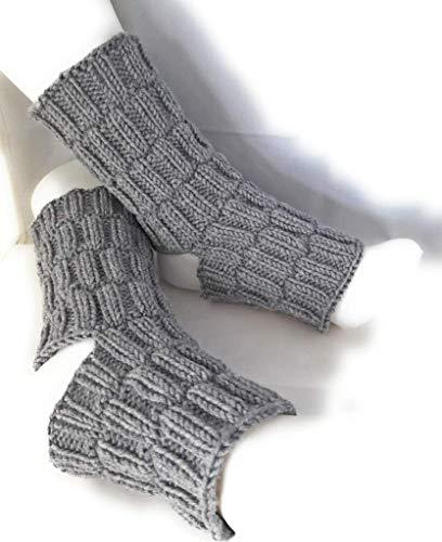 Yoga Socken Pilates Socken Handgestrickt 100 Wolle Merino Dick Amazon De Handmade Produkte