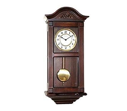 RELOJESDECO Reloj de Pared de péndulo 66cm, (Disponible Solo núm árabes 1.2.3.) Reloj de péndulo, Reloj con carillón, maquinaria Cuarzo carrillon melodia: ...