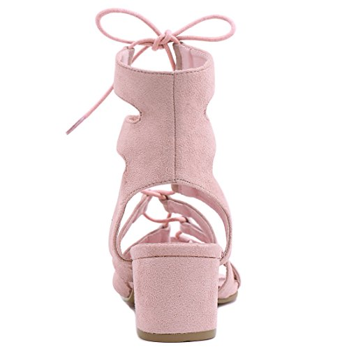 Allegra Up Femme Sandals K Toe Découpe Ouvert Pink Lace Talon 0q0Znx4wO