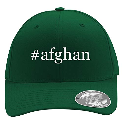 #Afghan - Men's Hashtag Flexfit Baseball Cap Hat, Forest, Large/X-Large