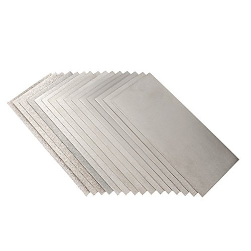 Kamas 170x75mm 60 to 3000 Grit Whetstone Grinding Plate Polishing Grit Diamond Square Whetstone Polishing Sander